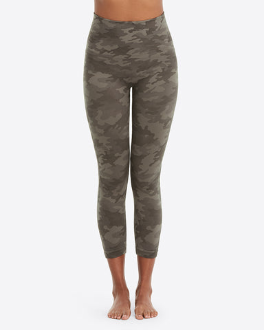Sage Camo Spanx Cropped Leggings