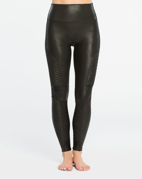 Spanx - Very Black Moto Leggings
