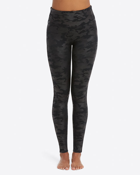 Spanx - Matte Black Camo Leggings