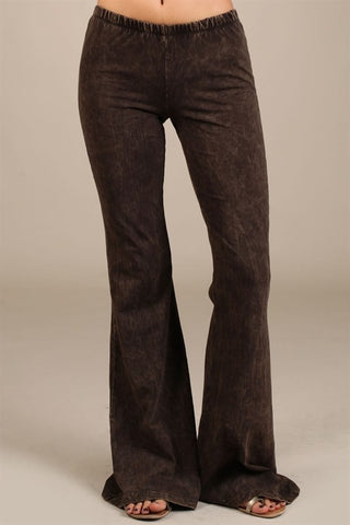 Mineral Washed Bell Bottoms (Brown, Camel, Denim & Cyan)