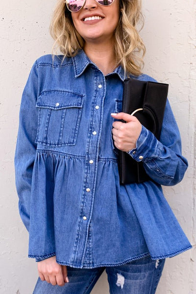Denim Pocket Shirt Jacket