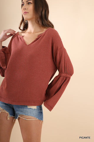 Picante Bell Sleeve Top