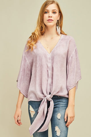 Lavender Stonewashed Top