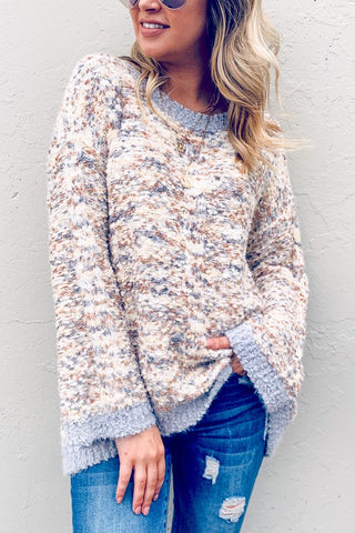 Blue Multi Color Sweater