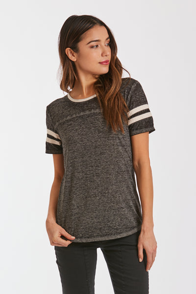 Black / Cream Analisa Burnout Top