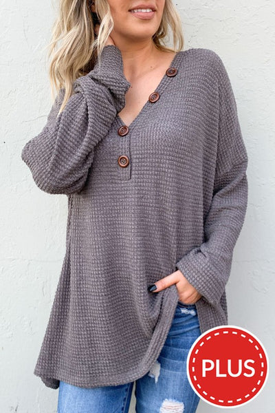 Mauve V-Neck Knit Top