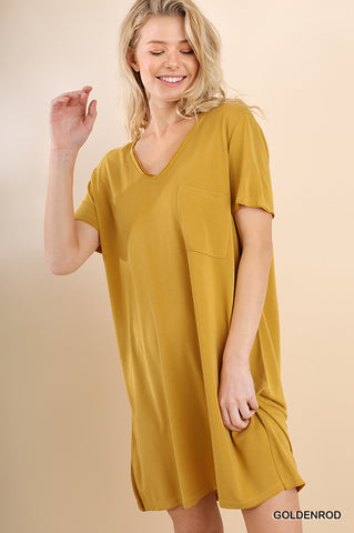 Goldenrod Cupro Tee Dress
