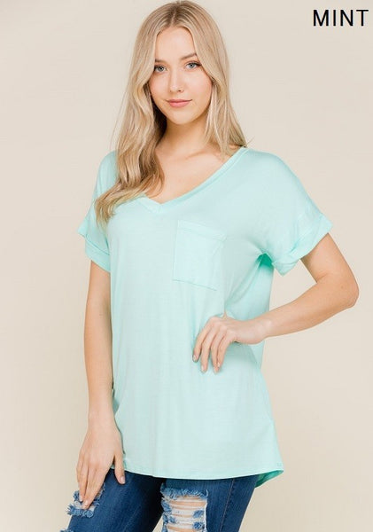 MInt Solid Tunic Top
