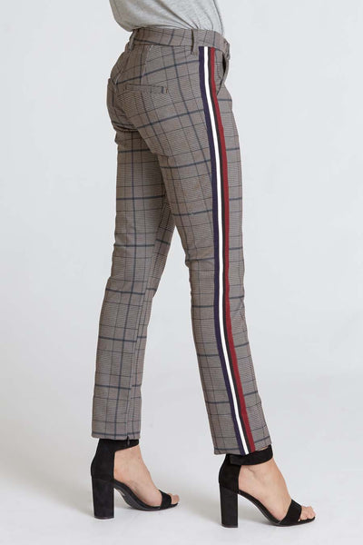 Navy Plaid Blaire Pants