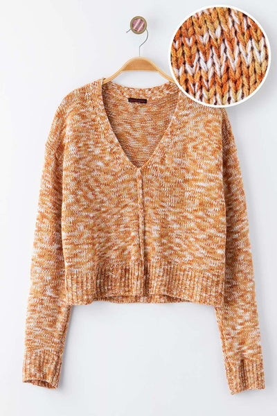 Orange Multi Knit Top