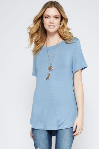 Blue Neck Band Top