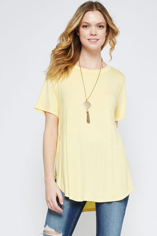 Yellow Neck Band Top
