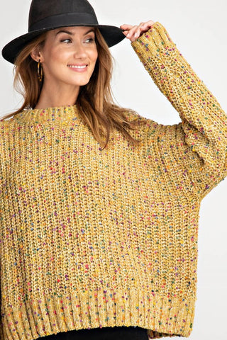 Golden Kiwi Pompom Sweater