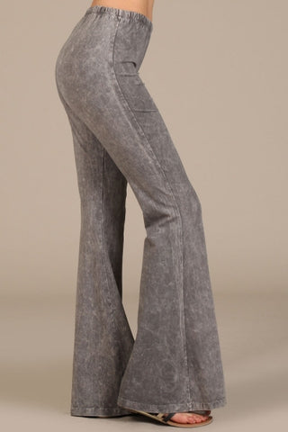 Grey Bell Bottom Pants