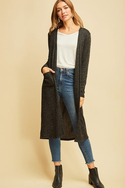 Black LS Cardigan