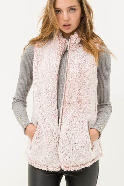Mauve Fleece Vest