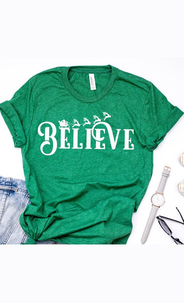 Green Believe Tee