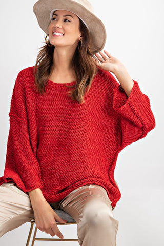 Scarlet Chunky Sweater