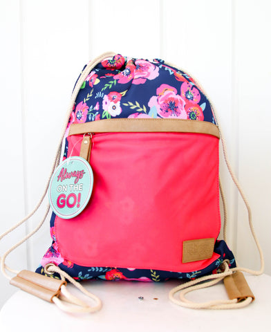 Blue Floral Backpack
