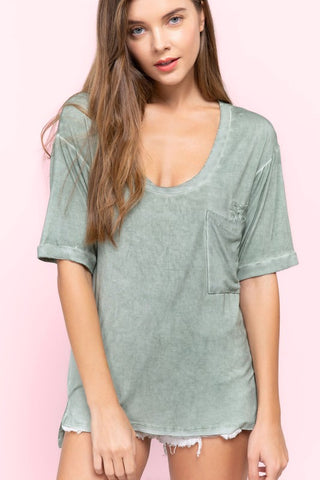 Green Lilly Relax Fit Top
