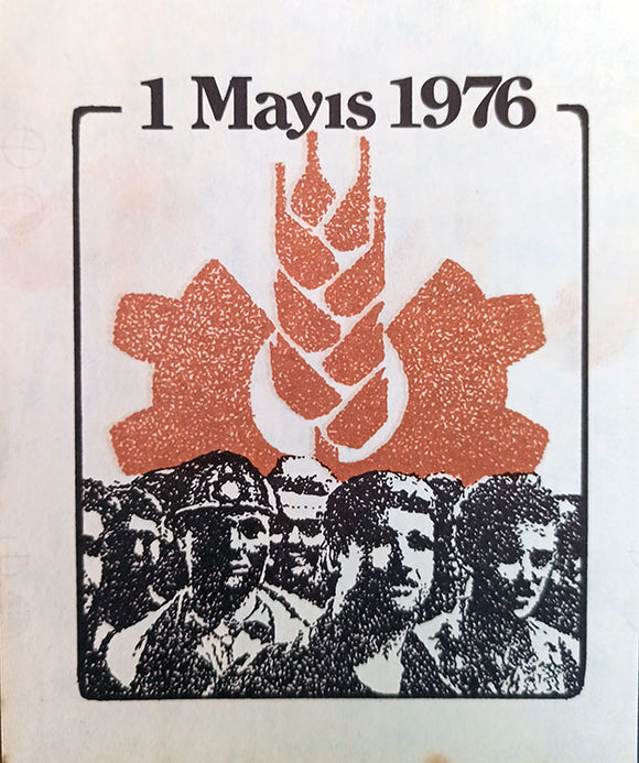 [LABEL of TURKISH MAY 1, 1976] 1 Mayis 1976.