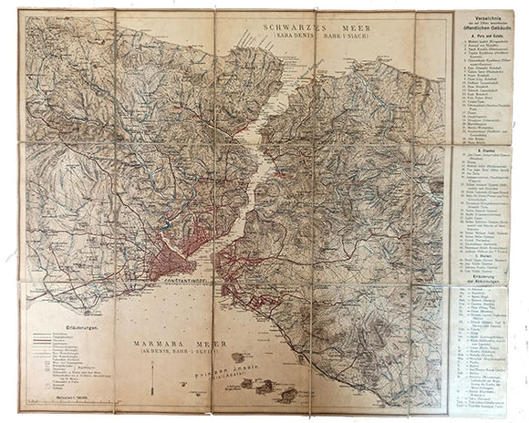 [MAP of CONSTANTINOPEL] [German map of the Bosphorus - Constantinople - Princess Islands].