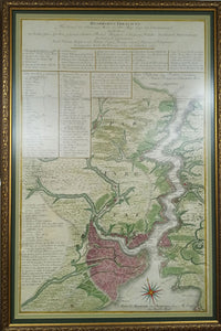 THE LONGEST MAP OF THE BOSPHORUS / DRAWING  STEP BY STEP OF CONSTANTINOPLE] Bosphorvs Thracicvs, der Kanal des Schwartzen Meers oder die Meer-Enge bey Constantinopel... Kaysrl. Königl. Ungar. Ingenieur Hauptmann.