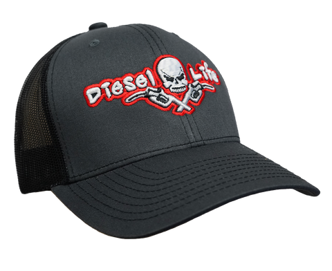Diesel Life Snap Back Hat - Charcoal/Red