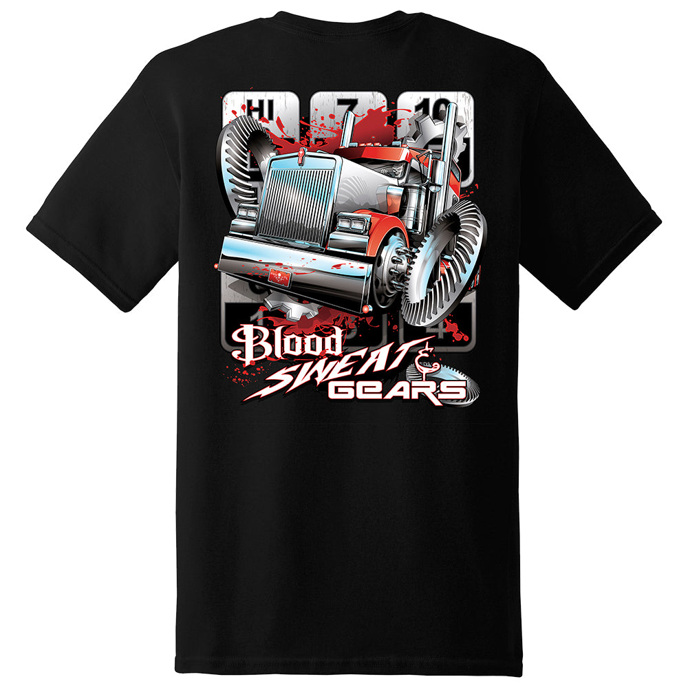 Blood Sweat and Gears Short Sleeve T-Shirt