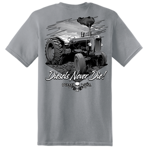 Diesels Never Die! II Short Sleeve T-Shirt - Color Gravel