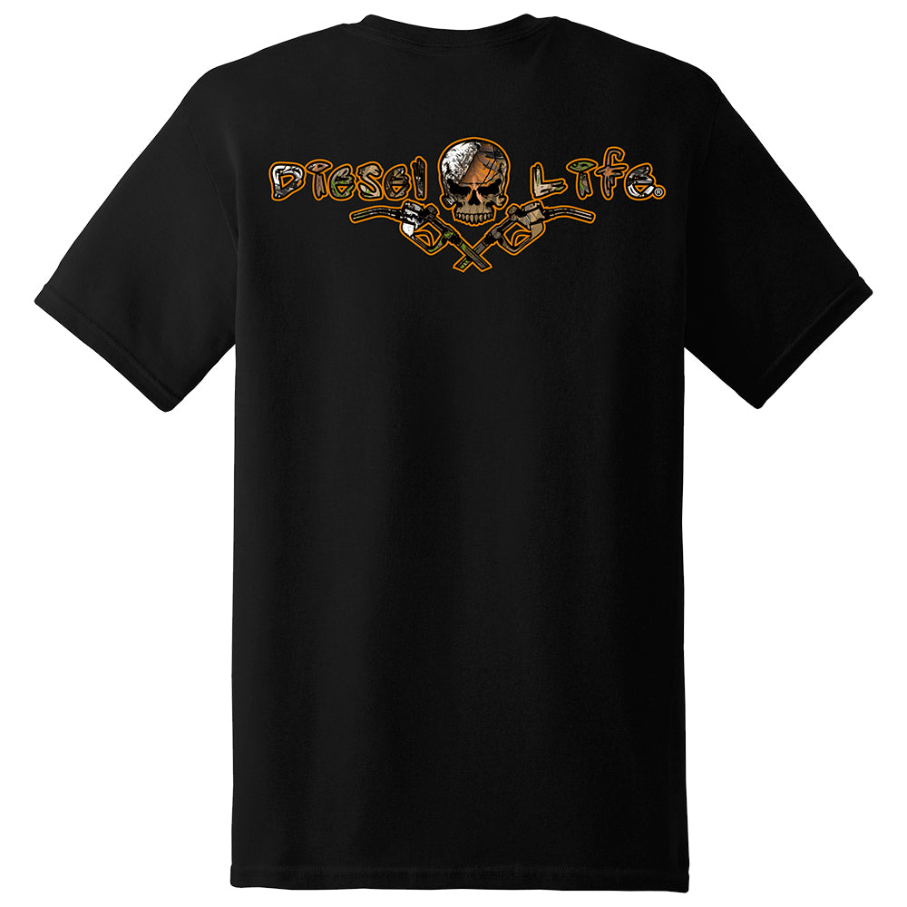 Camouflage Short Sleeve Skull & Pumps T-Shirt