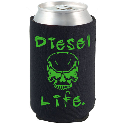 Diesel Life Skull Koozie Black with Green Imprint - Diesel Life®