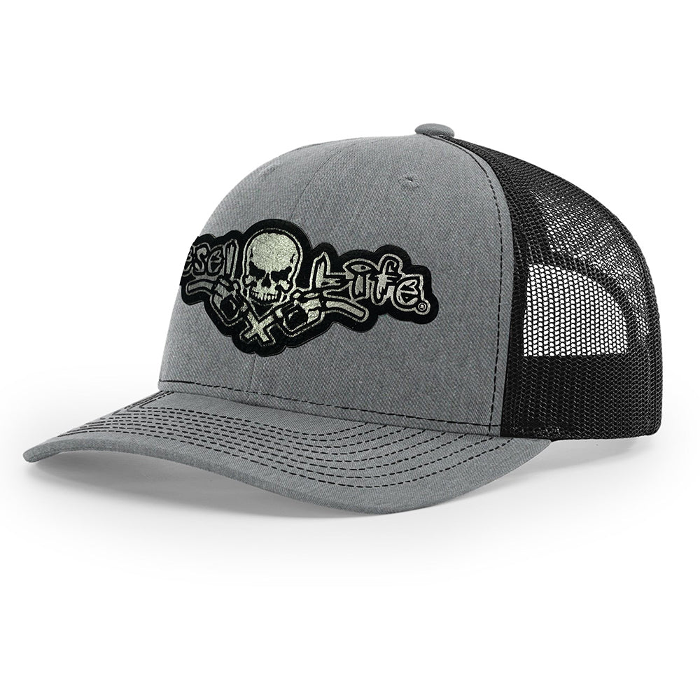 Diesel Life Snap Back Patch Hat- Grey w/ Black