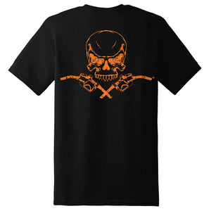 Skull & Pumps Short Sleeve T-Shirt - Black with Orange Imprint - Diesel Life®