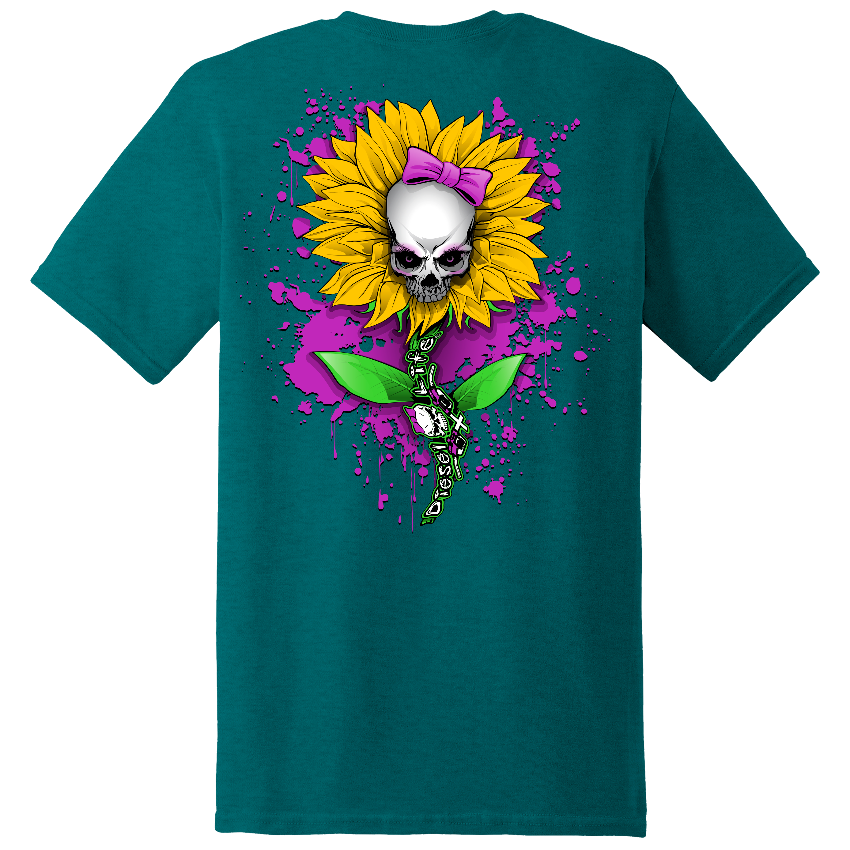 Ladies Sunflower Short Sleeve T-Shirt