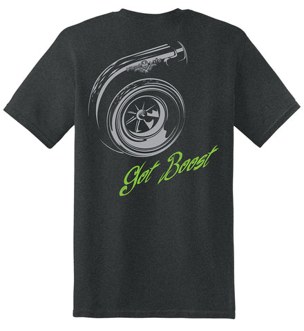 Turbo Short Sleeve T-Shirt - Tweed with Gray and Green Imprint