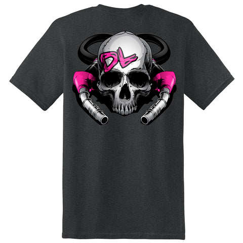 Ladies S/S DL Skull & Pumps T-Shirt