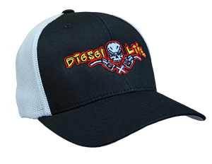 OSFA Diesel Life Black / Full Color Logo Trucker Hat Flex Fit - Diesel Life®
