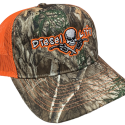 Diesel Life Snap Back Hat - Real Tree Camo/Neon Orange