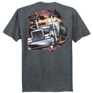Turn & Burn S/S T-Shirt - Black Heather - Diesel Life®