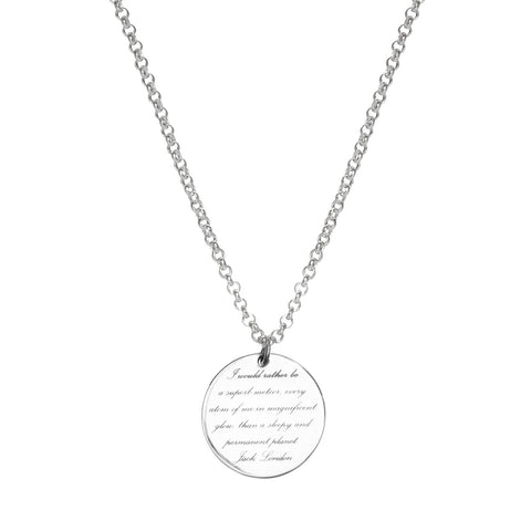 POETIC DISC NECKLACE