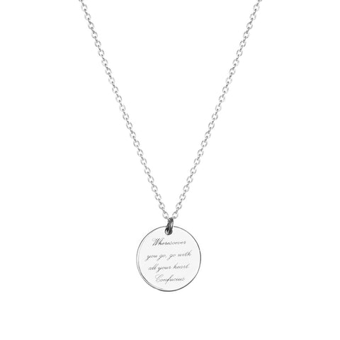 SMALL POETIC DISC NECKLACE