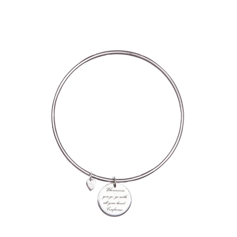 SMALL POETIC DISC BANGLE
