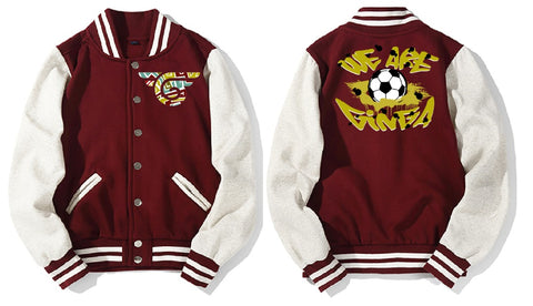 ginga varsity jacket red wine
