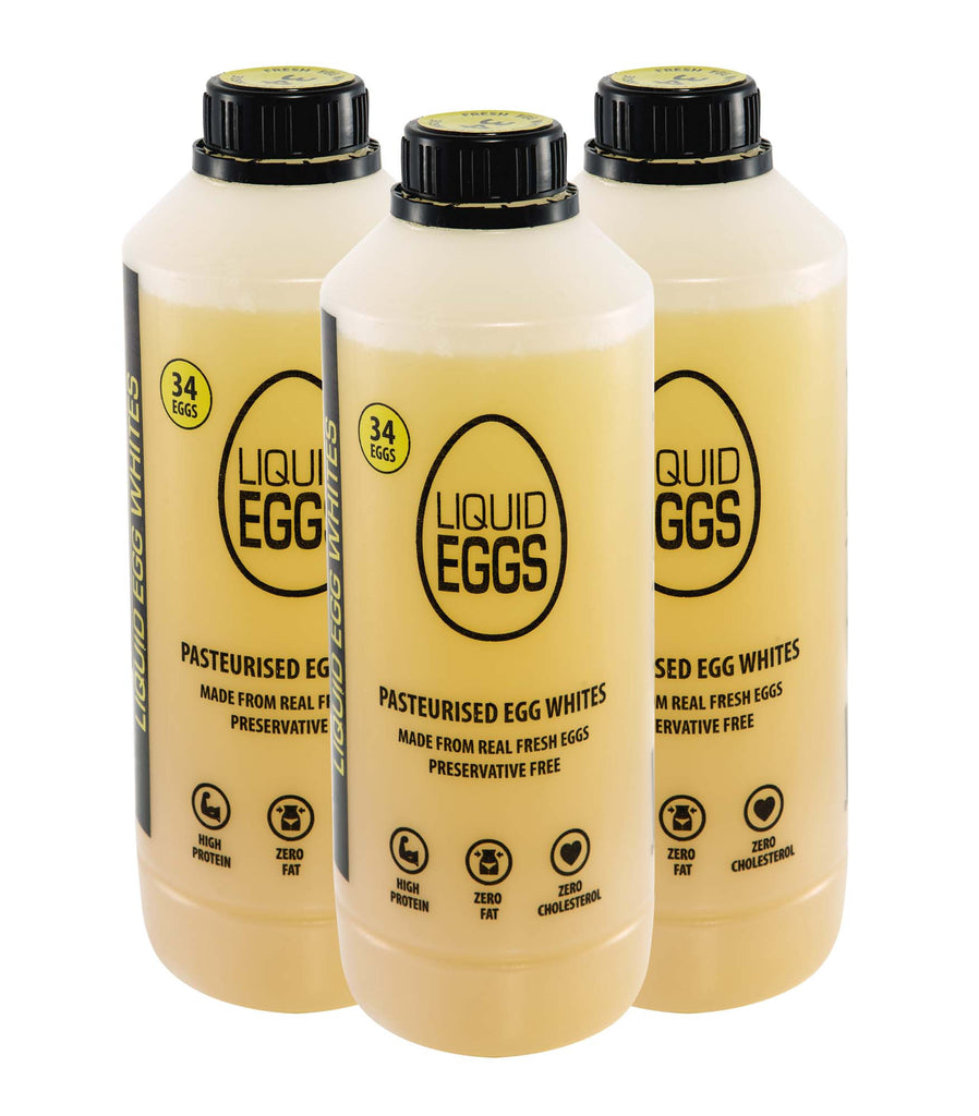 LIQUID EGGS<br>PASTEURISED EGG WHITES<br>[6 PACK]