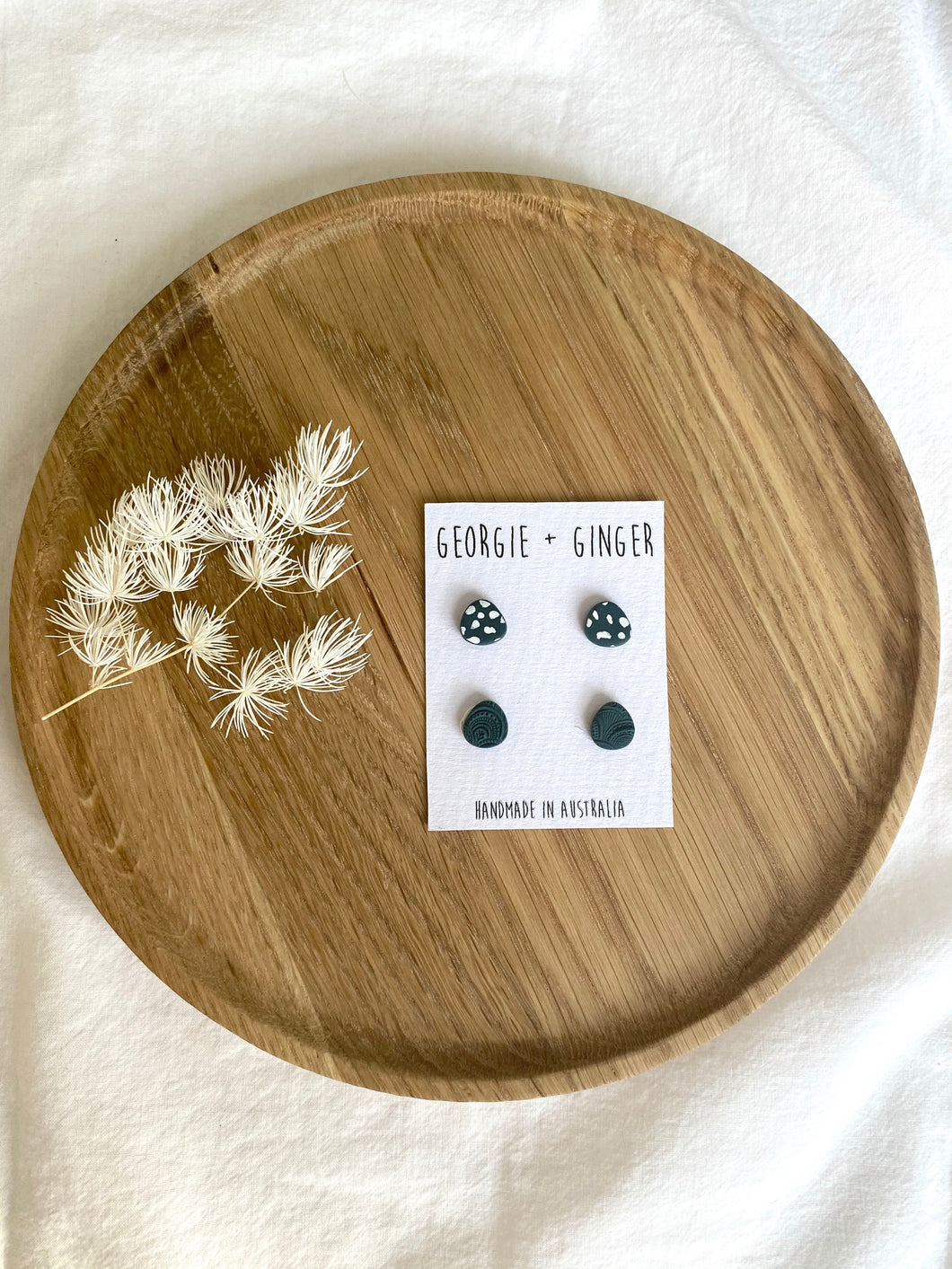 4PK STUD EARRINGS