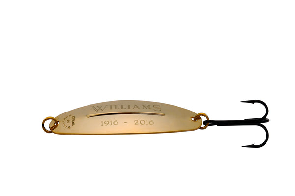 Personalized W50 24K Gold lure with hook
