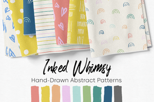 Inked Whimsy Hand-Drawn Abstract Patterns