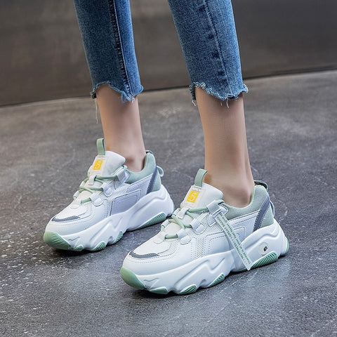 Hip Hop Women's Chunky Sneakers Tenis Basket Women Casual Platform Shoes Ulzzang Dad Shoes Zapatos Mujer Size 34-43