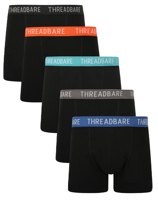 5 Pack Pleneau Trunks Black
